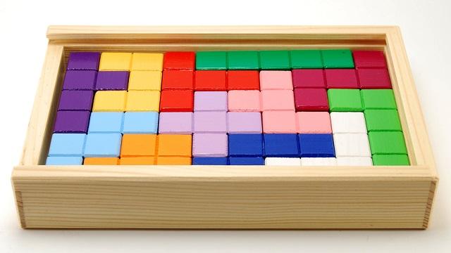 Brettspiel ähnlich Tetris