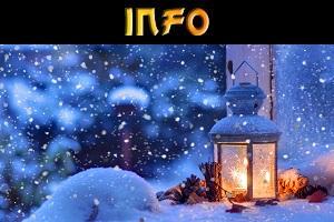 Laterne am Winterabend